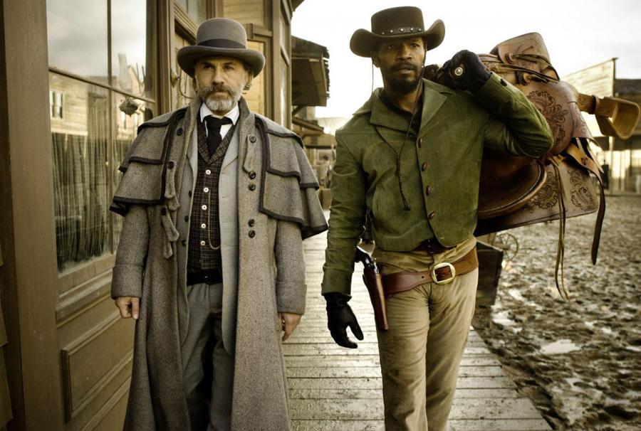 """Christoph Waltz i Jamie Foxx w filmie """"Django"""""""