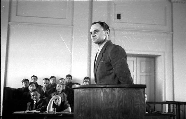 Witold Pilecki podczas procesu