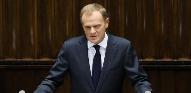 Wystąpienie premiera Donalda Tuska w Sejmie