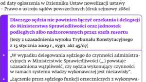Nowe zasady delegacji sędziów do resortu sprawiedliwości