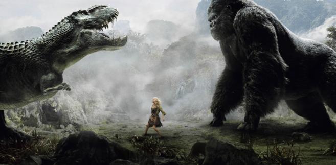 """""""King Kong"""" Petera Jacksona to nie tylko wielka małpa i Adrien Brody, ale także liczne prehistoryczne gady i spektakularne sceny."""