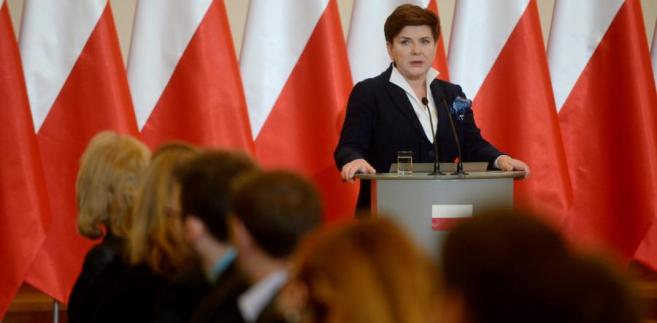 Beata Szydło podczas posiedzenia Komisji Wspólnej Rządu i Samorządu Terytorialnego.