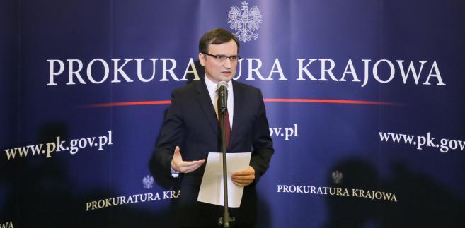 Zbigniew Ziobro podczas konferencji