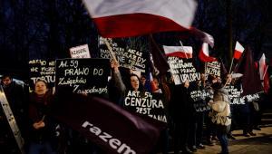 Protest przed KPRM