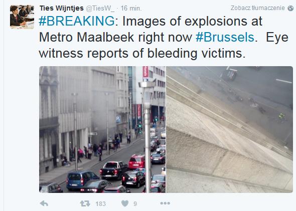 metro wybuch bruksela