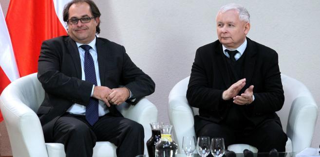 Marek Gróbarczyk i prezes PiS Jarosław Kaczyński