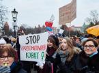 Uczestnicy Manify Trójmiasto w Gdańsku, 8 bm. W Dzień Kobiet,   PAP/Adam Warżawa