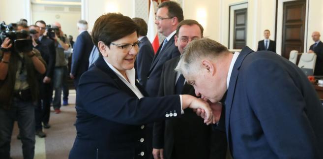 Beata Szydło i Krzysztof Jurgiel
