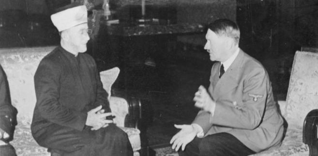 Spotkanie wielkiego muftiego Jerozolimy Muhammada Amina al-Husajniego z Adolfem Hitlerem.