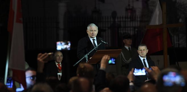 Kaczyński odniósł się w trakcie przemówienia do raportu jaki miała przygotować kierowana przez b. szefa MON Antoniego Macierewicza podkomisja ds. ponownego zbadania katastrofy smoleńskiej.
