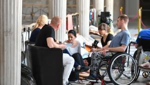 Protest rodziców osób niepełnosprawnych w Sejmie trwa od 18 kwietnia