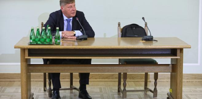 Były wiceminister finansów i Generalny Inspektora Informacji Finansowej Andrzej Parafianowicz podczas przesłuchania przez sejmową komisję śledczą ds. Amber Gold