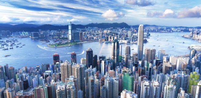 Widok z Victoria Peak w Hongkongu