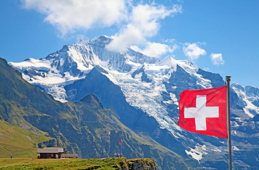 Lodowe w Alpach Szwajcarskich