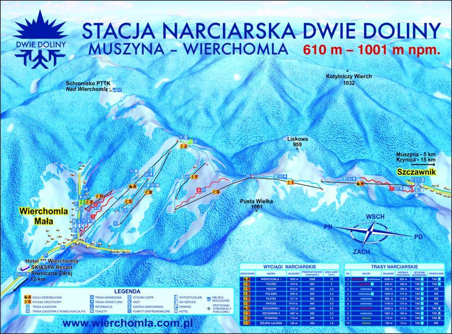 Stacja narciarska Dwie Doliny Muszyna-Wierchomla