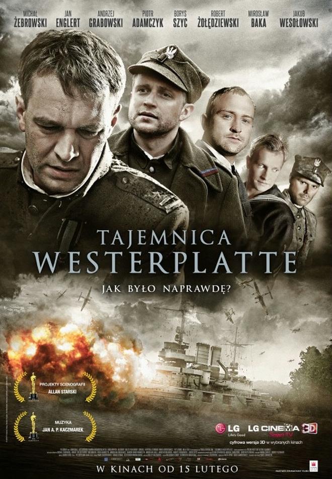 """Michał Żebrowski, Piotr Adamczyk, Borys Szyc, Jakub Wesołowski i Robert Żołędziewski w filmie """"Tajemnica Westerplatte"""""""