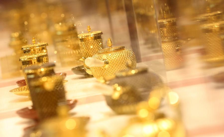 Japonia, złote pojemniki do herbaty