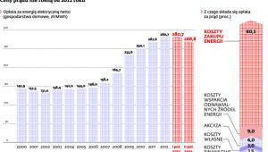 Ceny prądu nie rosną od 2012 roku