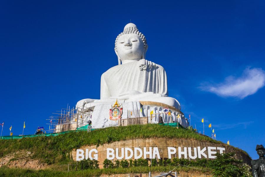 Posąg Buddy na wyspie Phuket