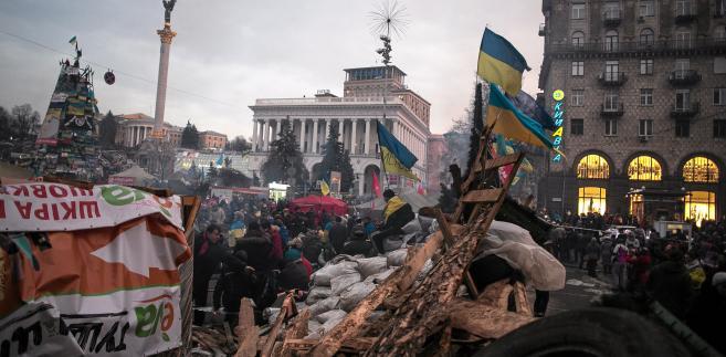Zgromadzeni na Euromajdanie w Kijowie