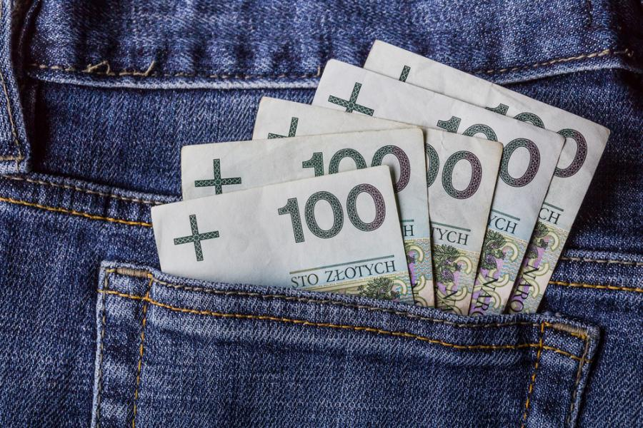 kredyt gotówkowy, pieniądze, złoty