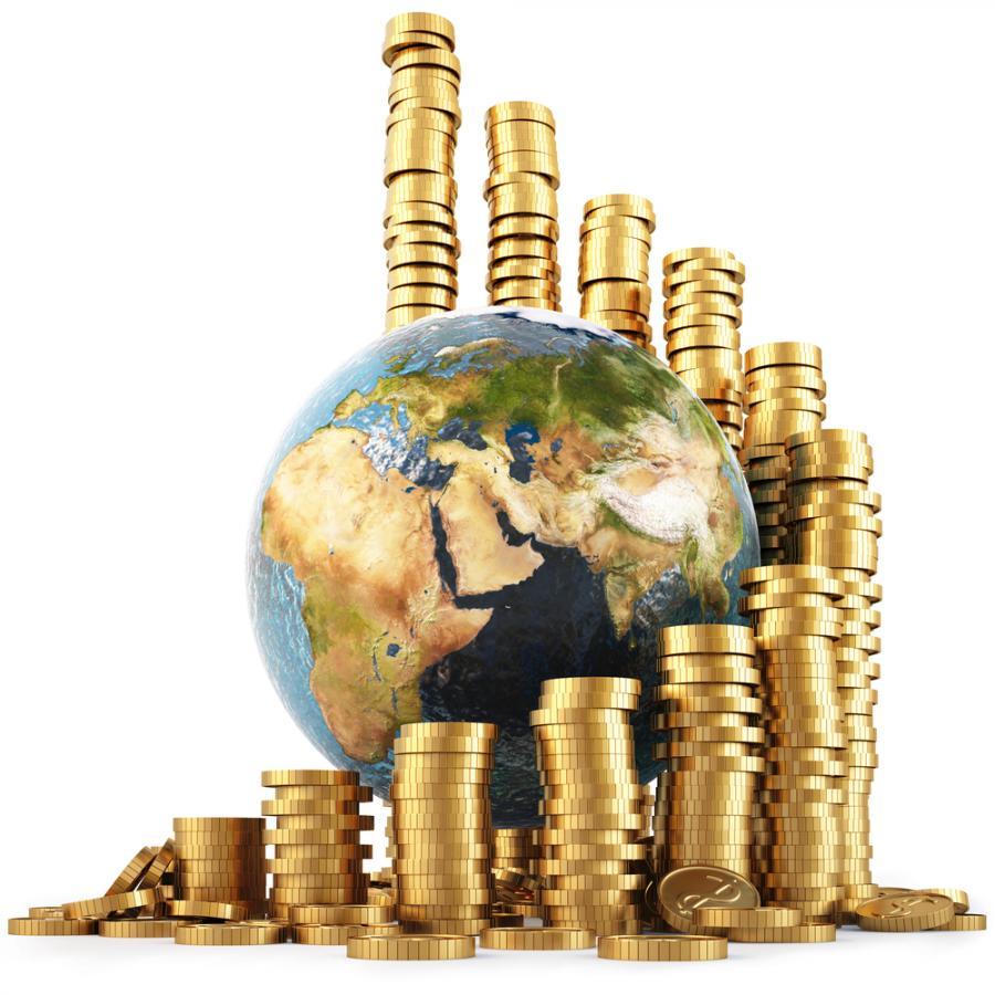globus, pieniądze