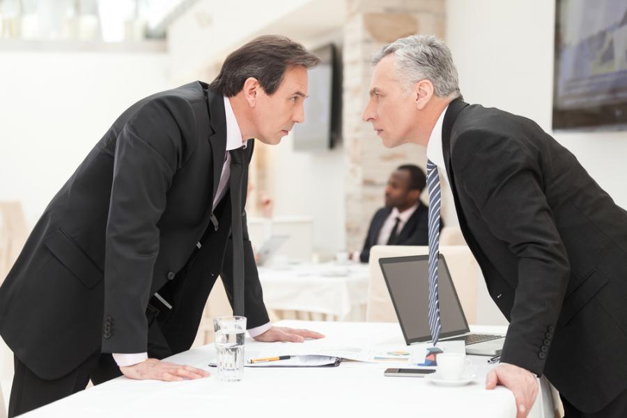 kłótnia, konkurencja, spór, firma, biuro