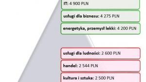 Mediana wynagrodzeń całkowitych brutto osób pracujących w działach obsługi klienta w wybranych branżach w 2013 roku (w PLN)