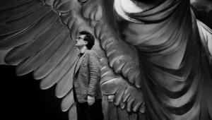 Wim Wenders na planie filmu Niebo nad Berlinem (1987)