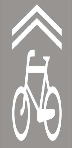 Znak P-27: Kierunek i tor ruchu roweru