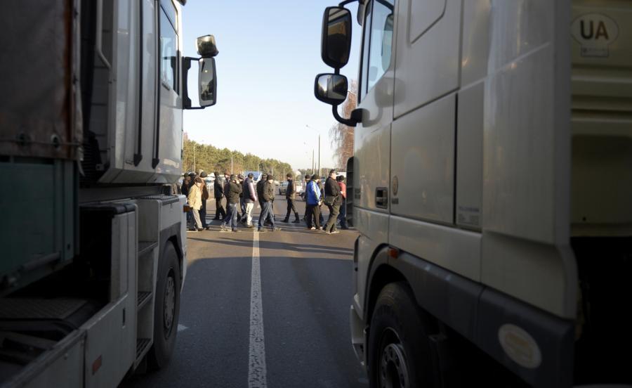 Blokada granicy polsko - ukraińskiej
