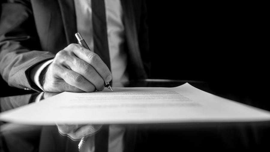 biznes, prawo, dokument, podpis