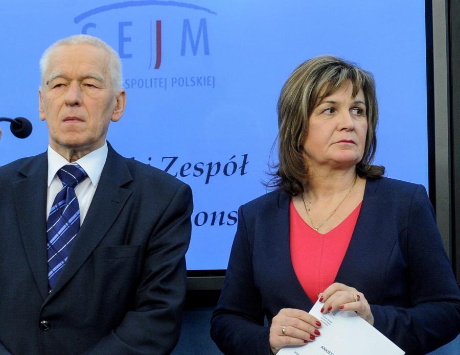 Marszałek senior, poseł Kukiz'15 Kornel Morawiecki i posłanka Kukiz'15 Małgorzata Zwiercan,  PAP/Marcin Obara
