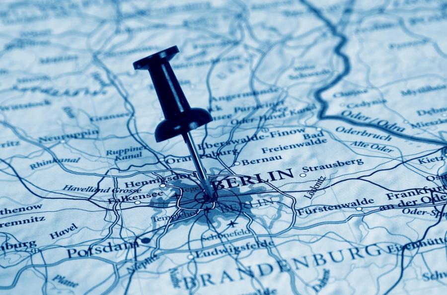 Niemcy, Berlin, mapa