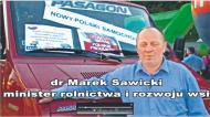 Jak za publiczne pieniądze Sawicki reklamuje prywatną firmę