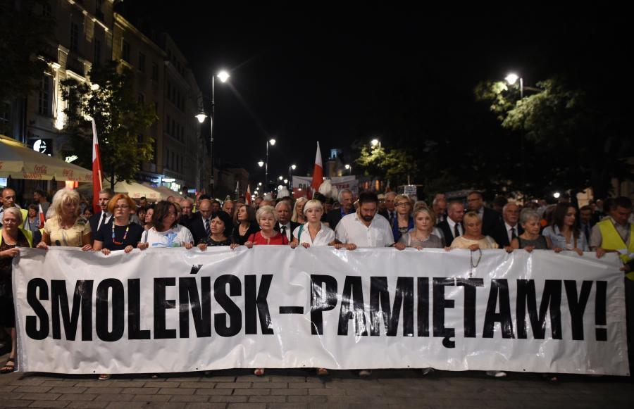 Jak co miesiąc ulicami stolicy przeszedł przed Pałac Prezydencki Marsz Pamięci