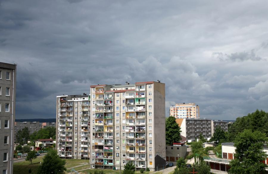 Komunistyczny blok z wielkiej płyty w Gdyni
