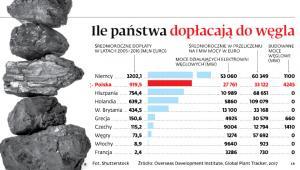 Ile państwa dopłacają do wegla