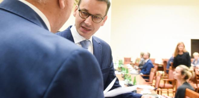 Wicepremier, minister rozwoju i finansów Mateusz Morawiecki w Sejmie.