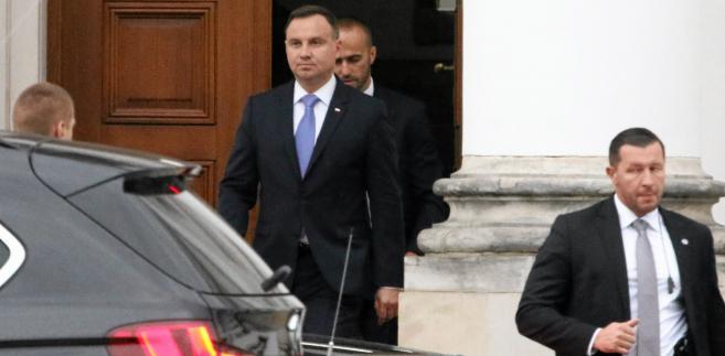 Prezydent Andrzej Duda po spotkaniu z Jarosławem Kaczyńskim