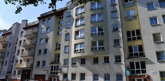 Budynki przy ulicy Chodkiewicza w śródmieściu Szczecina