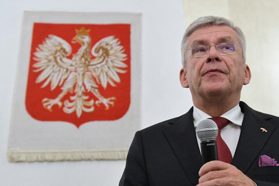 Marszałek Senatu RP Stanisław Karczewski podczas spotkania z polonią w Konsulacie Generalnym RP w Kolonii
