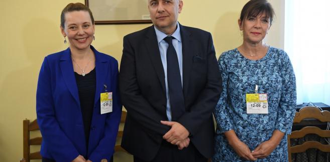 Kandydaci na Rzecznika Praw Dziecka Sabina Zalewska, Paweł Kukiz-Szczuciński i Ewa Jarosz