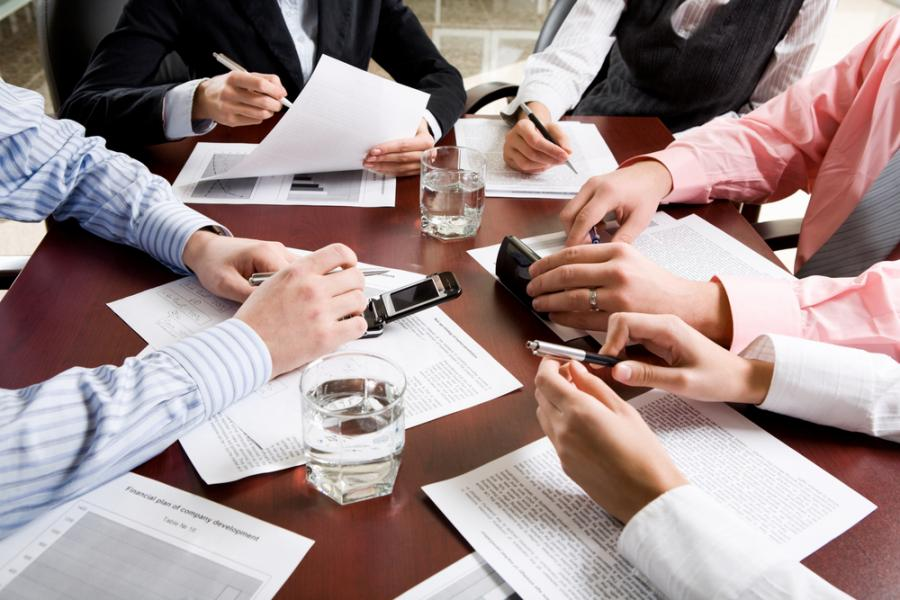 praca, biuro, urzędnicy, biznes, spotkanie, zebranie