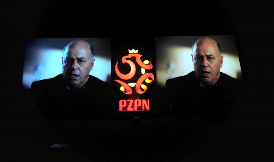 Konferencja prasowa prezentująca nowe logo PZPN