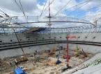 Stadion Narodowy w Warszawie w budowie