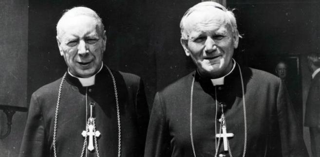 Kardynał Karol Wojtyła i Kardynał Stefan Wyszyński, Warszwa 5 sierpnia 1978 fot. zuma/newspix.pl