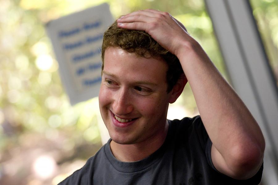 Mark Zuckerberg z Facebooka. Fot. David Paul Morris/Bloomberg