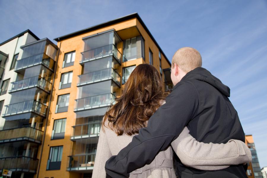 osiedle, blok i para, nieruchomości, dom