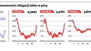 Złoty coraz słabszy, rentowności obligacji lekko w górę